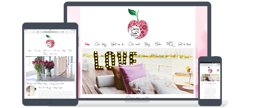 Cherry Soda Events Website Development Galway