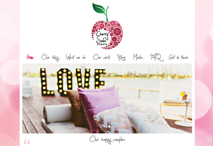 Cherry Soda Events Website Design Galway