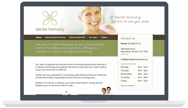 Dental Harmony Web Development