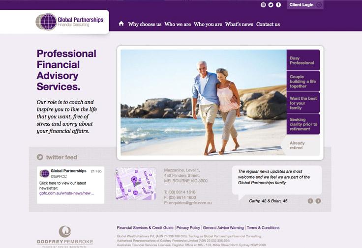 Financial Consultants Web Design