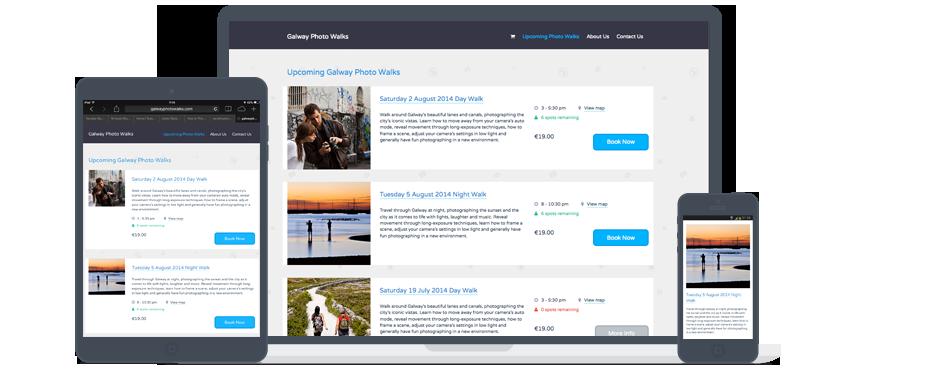 Galway Photo Walks Website Design and Development