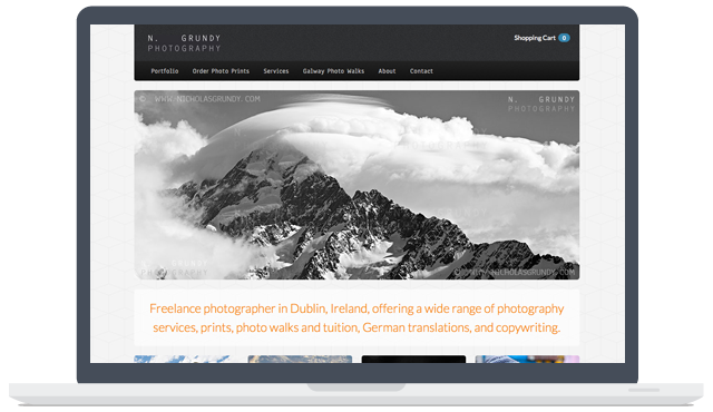 Grundy Photography Web Development