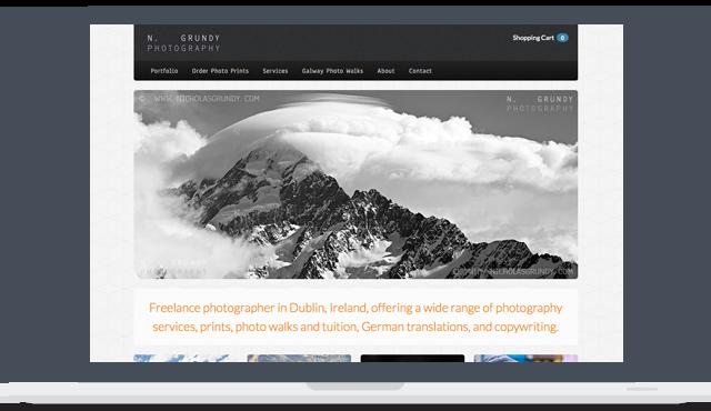 Grundy Photography Web Development