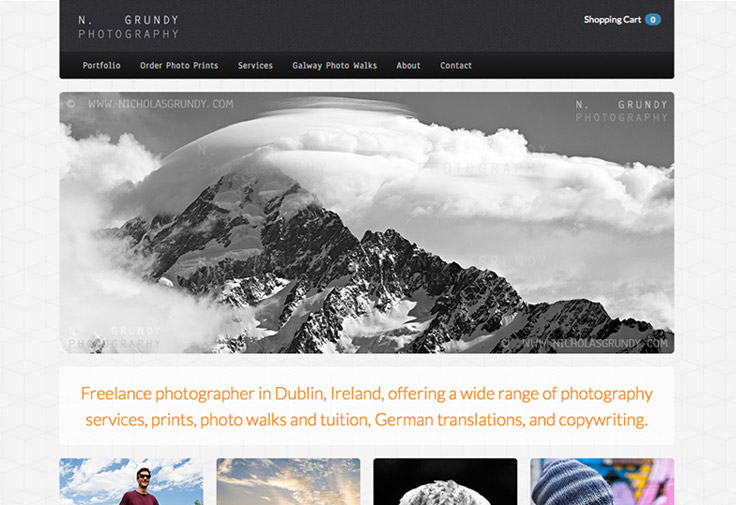 Nicholas Grundy Photography Web Design