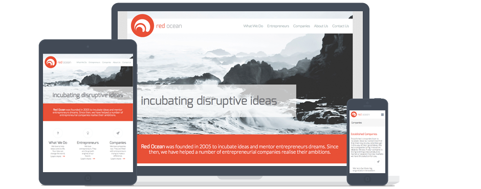 Red Ocean Responsive Web Design