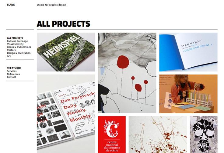 Slang Graphic Designers Web Design