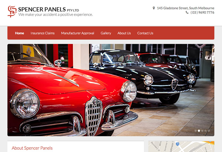 Spencer Panels Galway Website Design