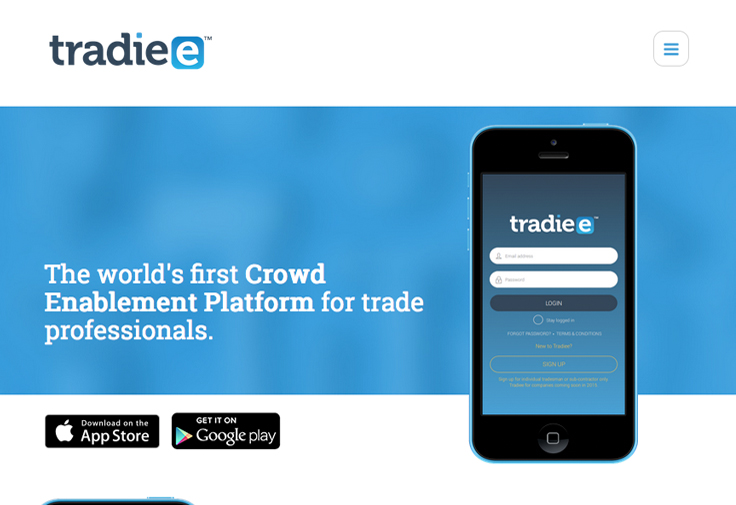 Tradiee Website App Design Galway